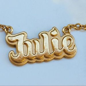 Jewelry - Julie bracelet 14k yellow plated gold name chain